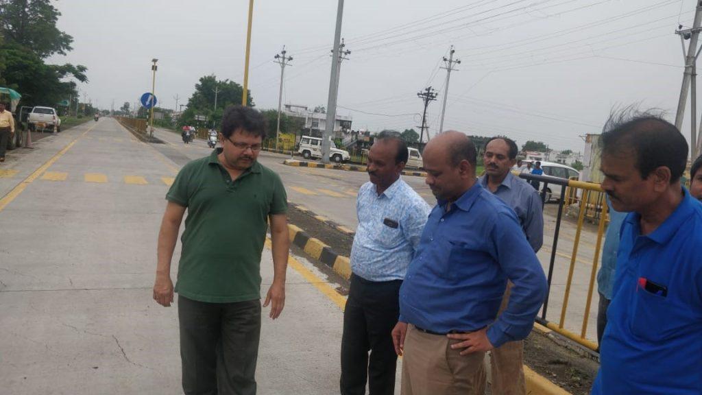 Tree plantation drive organized during Managing Director Mr. Bhobe's visit to Nagpur sites